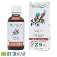 【ジェモレメディ】BIO黒ポプラ・循環器官・呼吸器系を浄化 50ml (単体植物) Herbiolys / エルビオリス