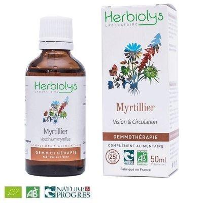 画像1: 【ジェモレメディ】BIOセイヨウスノキ(ビルベリー) 視力改善、血糖値低下に 50ml (単体植物) Herbiolys / エルビオリス