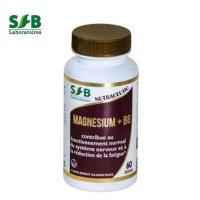マグネシウム+ビタミンB6 サプリ  抗ストレスと疲労緩和に 60粒入  SFB LABORATOIRES / SFB研究所