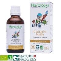 BIOコリアンダー マザーティンクチャー 消化補助や重金属中毒に 50ml Herbiolys / エルビオリス