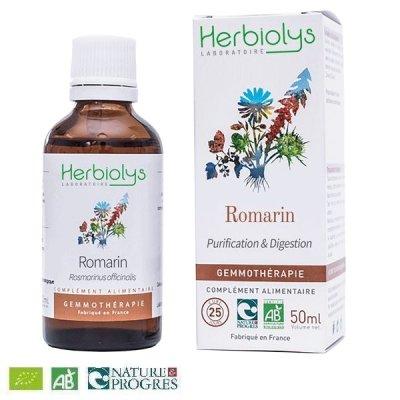 画像1: 【ジェモレメディ】BIOローズマリー・肝機能向上、デトックスに 50ml (単体植物) Herbiolys / エルビオリス