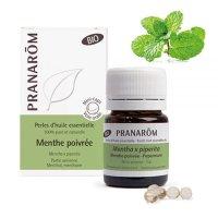 BIOペパーミント・パール精油カプセル (消化サポートや頭痛緩和)  60粒 Pranarom / プラナロム