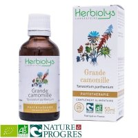 BIOナツシロギク マザーティンクチャー 頭痛や偏頭痛のケアに 50ml Herbiolys / エルビオリス