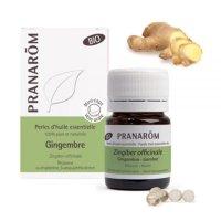 BIOジンジャー・パール精油カプセル (消化器疾患緩和をサポート)  60粒 Pranarom / プラナロム