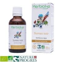 BIO西洋ニワトコ マザーティンクチャー むくみ解消や解熱作用  50ml Herbiolys / エルビオリス