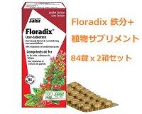Floradix 鉄分+植物サプリメント 84錠x2箱セット Salus / サルス